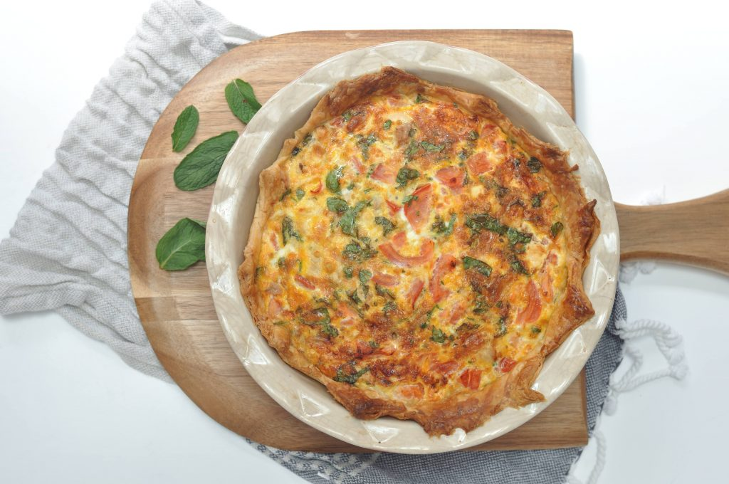 Spring chicken quiche